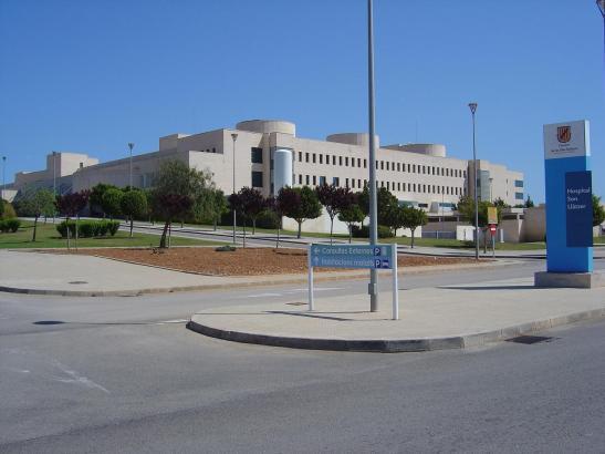 Blick auf das Krankenhaus von Son Llàtzer.