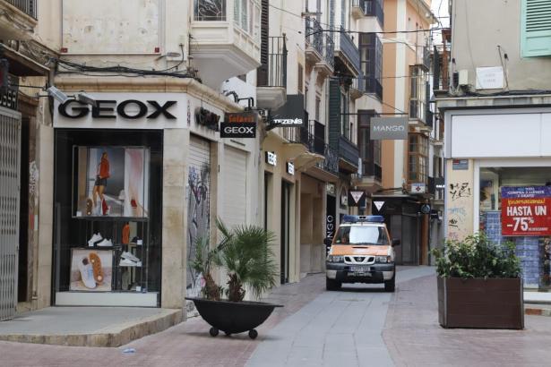 Fast alle Geschäfte in Palma sind zurzeit geschlossen.