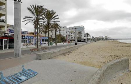 So leer wie in diesen Tagen war die sonst trubelige Playa de Palma noch nie.