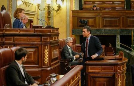 Ministerpräsident Pedro Sánchez im Abgeorrdnetenhaus.
