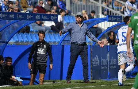 Atlético-Baleares-Trainer Manix Mandiola während der Partie der Inselkicker gegen Racing de Ferrol im Februar.