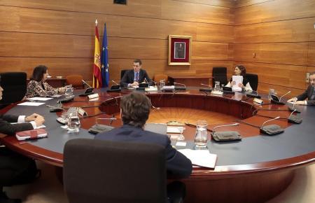 Kabinettssitzung unter Leitung von Premier Sánchez.
