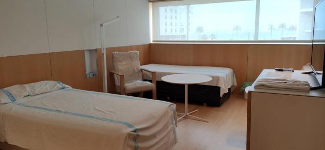 So sehen die Krankenzimmer aus.
