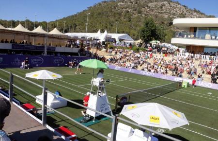 Der Centre-Court des Santa Ponça Country Clubs während des Damen-Turniers Mallorca Open im vergangenen Jahr.