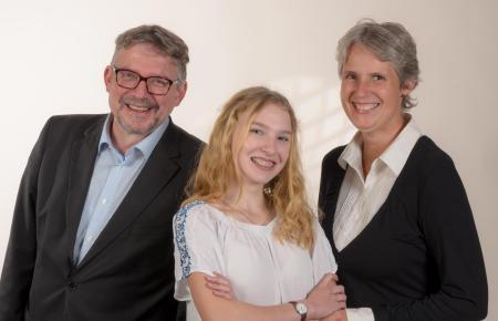 Holmfried Braun und Martje Mechels mit Tochter Mia.