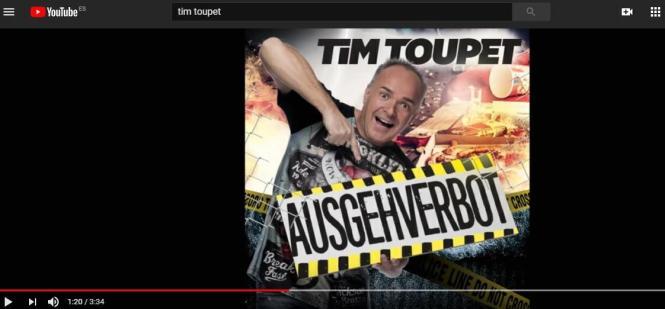 """Tim Toupet singt in diesen Tagen nicht vom """"Inselverbot"""", sondern vom """"Ausgehverbot""""."""