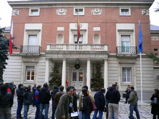 Blick auf den Moncloa-Palast in Madrid, dem Regierungssitz.
