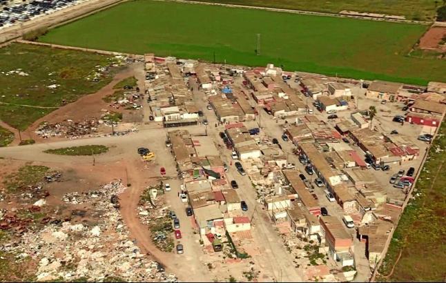 Das Drogendorf Son Banya aus der Luft gesehen.