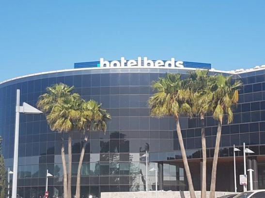Der Hauptsitz der Bettenbank Hotelbeds befindet sich auf Mallorca direkt neben dem Flughafen Son Sant Joan.