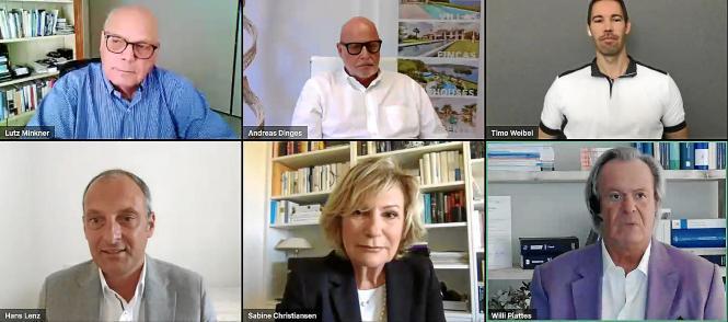 Mallorcas führende Immobilienexperten haben sich bei einem von European Accounting organisierten Webinar ausgetauscht. Journalistin Sabine Christiansen moderierte.
