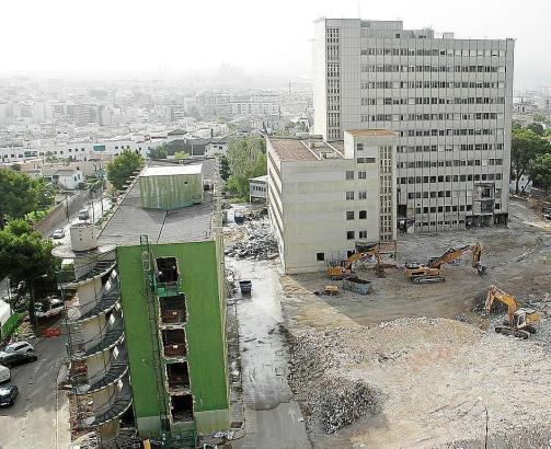Der Abriss des ehemaligen Krankenhauses Son Dureta ist fast abgeschlossen.