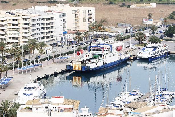 Der Hafen von Formentera.
