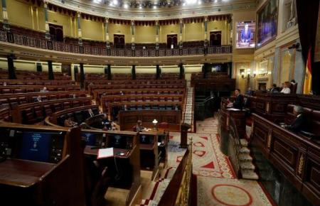 Blick in den Plenarsaal in Madrid.