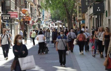 Auch die Olmos-Straße war gut besucht.