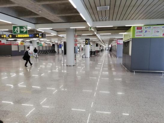 So leer ist derzeit der Flughafen von Palma.