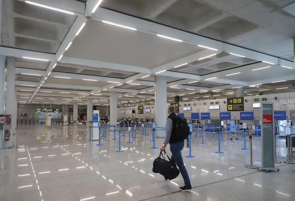 Bald wird sich der leere Flughafen wieder gehörig füllen.