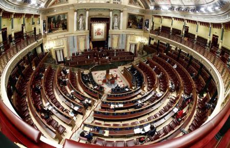 Blick ins Abgeordnetenhaus in Madrid.