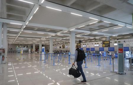 Der Insel-Airport ist nach wie vor recht leer.