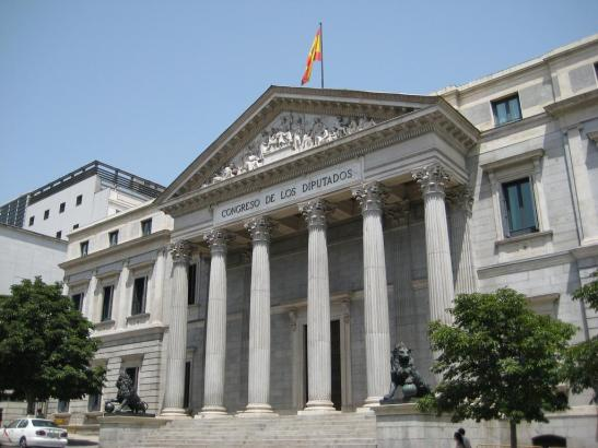 Blick auf das spanische Parlament.