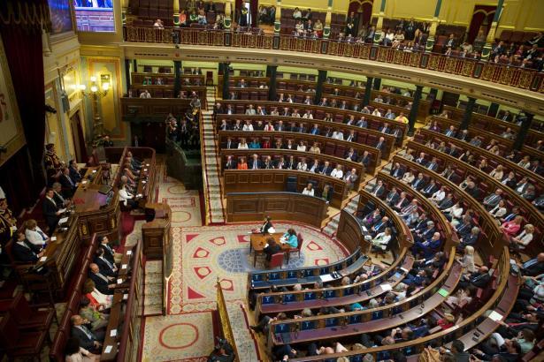 Blick in Spaniens Abgeordnetenhaus.