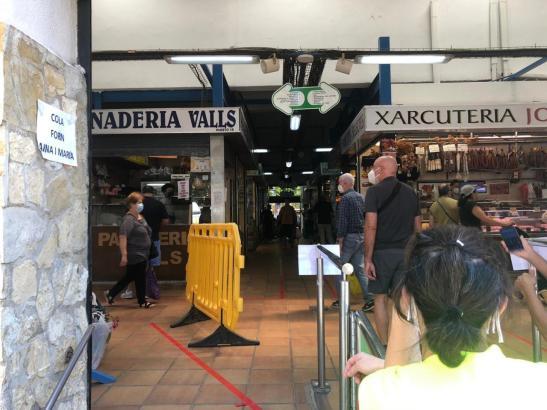 Zurzeit gibt es nur einen Zugang zum Markt in Pere Garau.