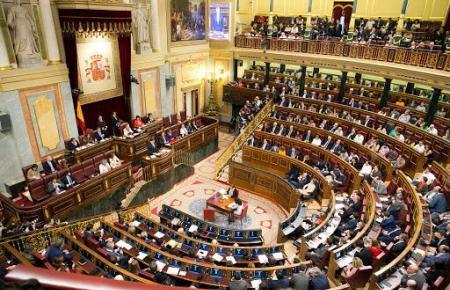 Blick in das Abgeordnetenhaus von Spanien.