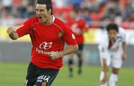 Hier bejubelt Aritz Aduriz einen Treffer für Real Mallorca.