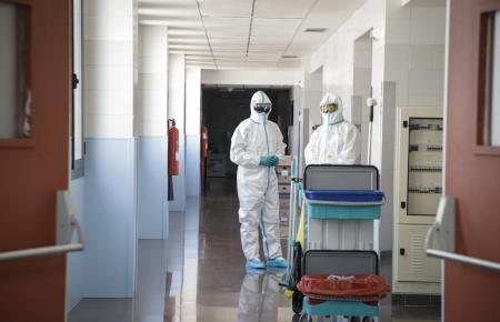 Corona-Ärzte im Krankenhaus Son Llàtzer.