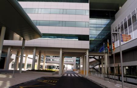 Blick auf das Krankenhaus Son Espases.