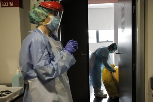 Es werden weiterhin Menschen mit Covid-19 im Krankenhaus Son Espases in Palma behandelt.