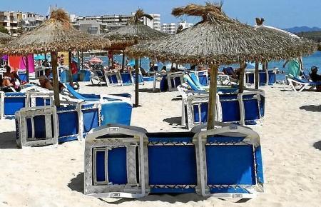 Manacor verzichtet in diesem Sommer an seinen Stränden auf Liegen und Sonnenschirme.