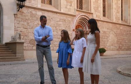 Die spanische Königsfamilie im Sommer 2018 auf Mallorca.