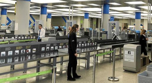 Noch geht es am Airport recht ruhig zu.