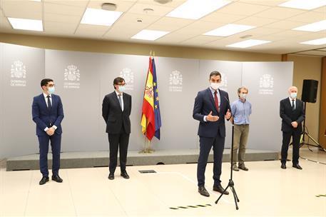 Regierungschef Sánchez im Moncloa-Palast in Madrid.