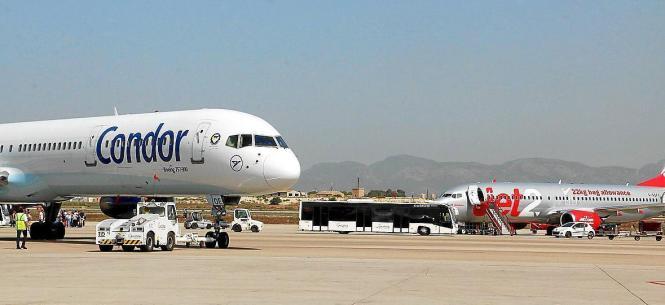 Allein am Sonntag wurden am Airport in Palma zwei Maschinen der Fluggesellschaft Condor aus Frankfurt am Main erwartet.