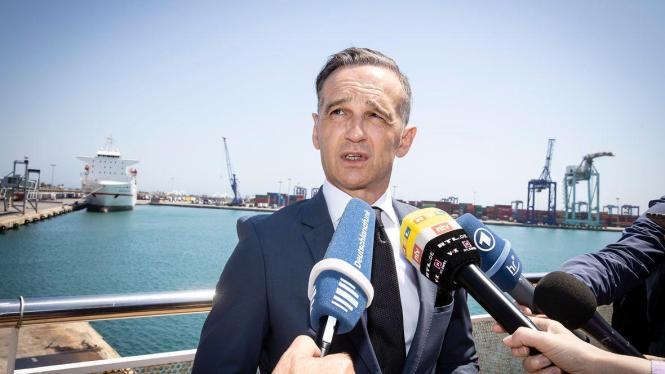 Heiko Maas am Dienstag im Hafen von Valencia.