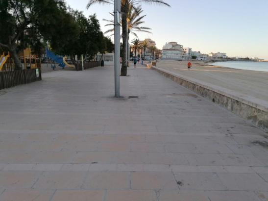 Gespenstische Leere an der Playa de Palma.