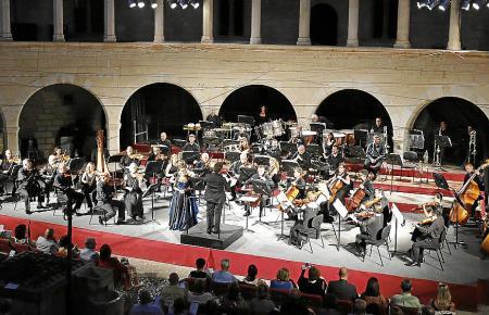 Konzert des Symphonie-Orchesters in der Bellver-Burg.