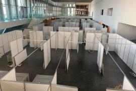 Corona-Krankenhaus im Kongresspalast wird demontiert