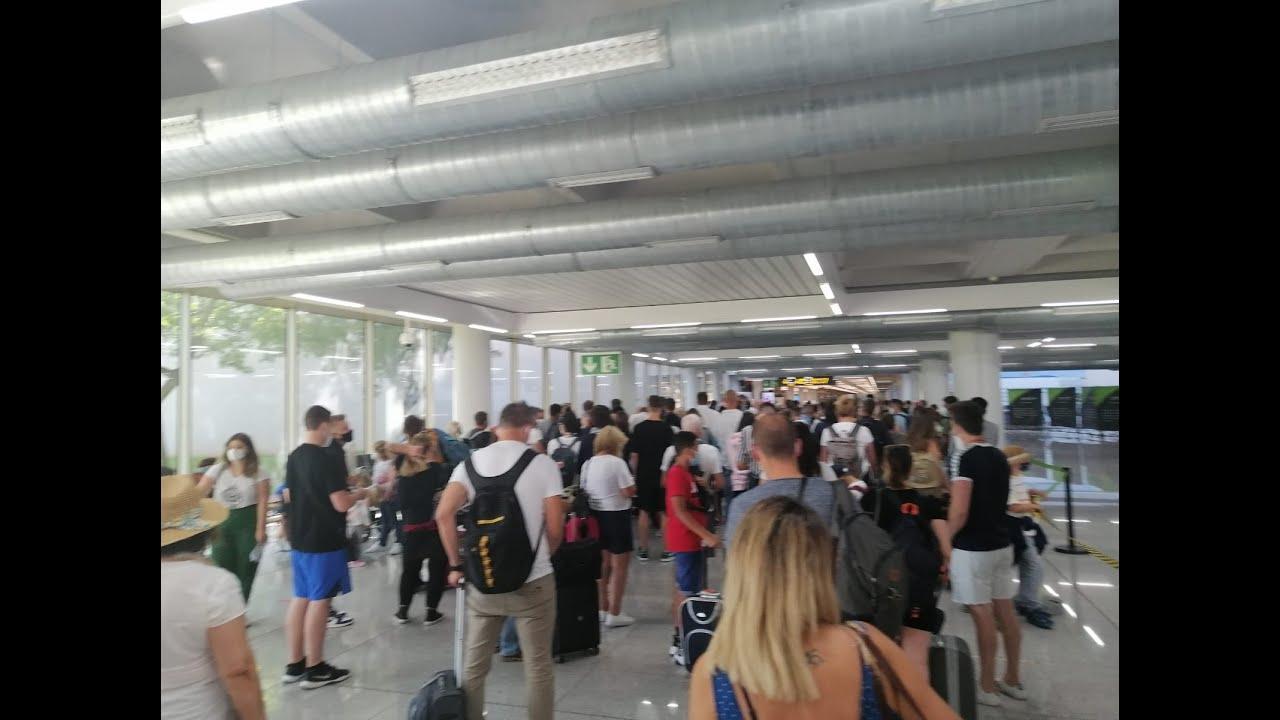 Chaotische Zustände im Flughafen von Palma de Mallorca
