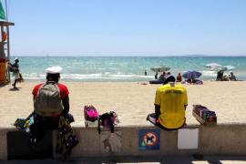 Polizeieinsatz an der Playa de Palma