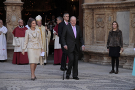 Einer der letzten Besuche auf der Insel. Juan Carlos und Sodía bei der Ostermesse in Palmas Kathedrale 2018.