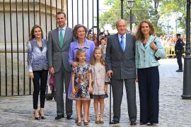 Hier war die Welt noch mehr oder weniger noch in Ordnung: Die Königsfamilie 2014 auf Mallorca.