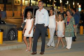 Königsfamilie in Palma eingetroffen