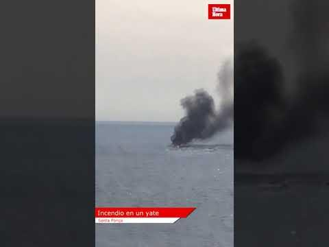 Motoryacht geht vor Mallorca in Flammen auf