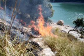 Strauchbrand an Gorg-Blau-Stausee auf Mallorca gemeldet