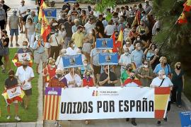 Demo für die spanische Monarchie auf Mallorca