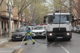 Straßen in Palma werden nicht mehr desinfiziert
