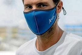 Rafael Nadal mit Mund-Nase-Schutz.
