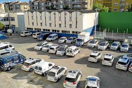 Polizei von Palma in uralten Fahrzeugen unterwegs